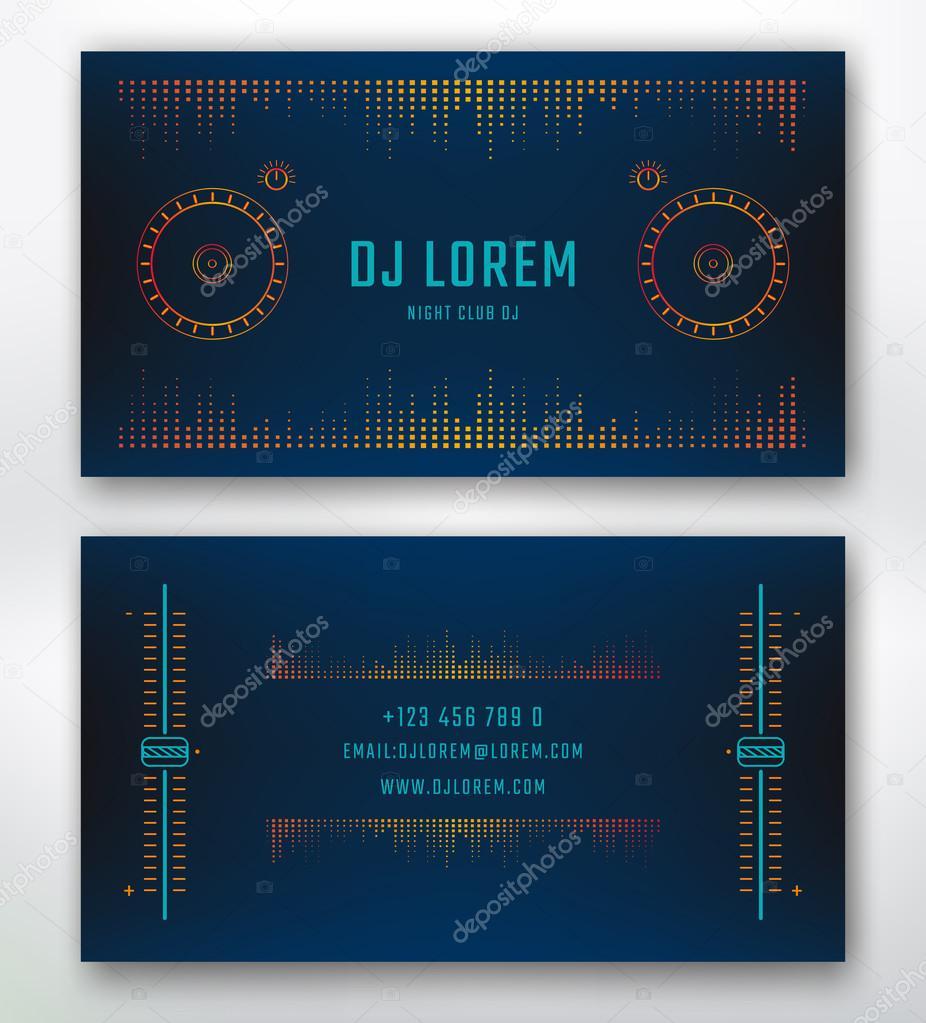 Business card for Dj — Stock Vector © garo_g #95419492