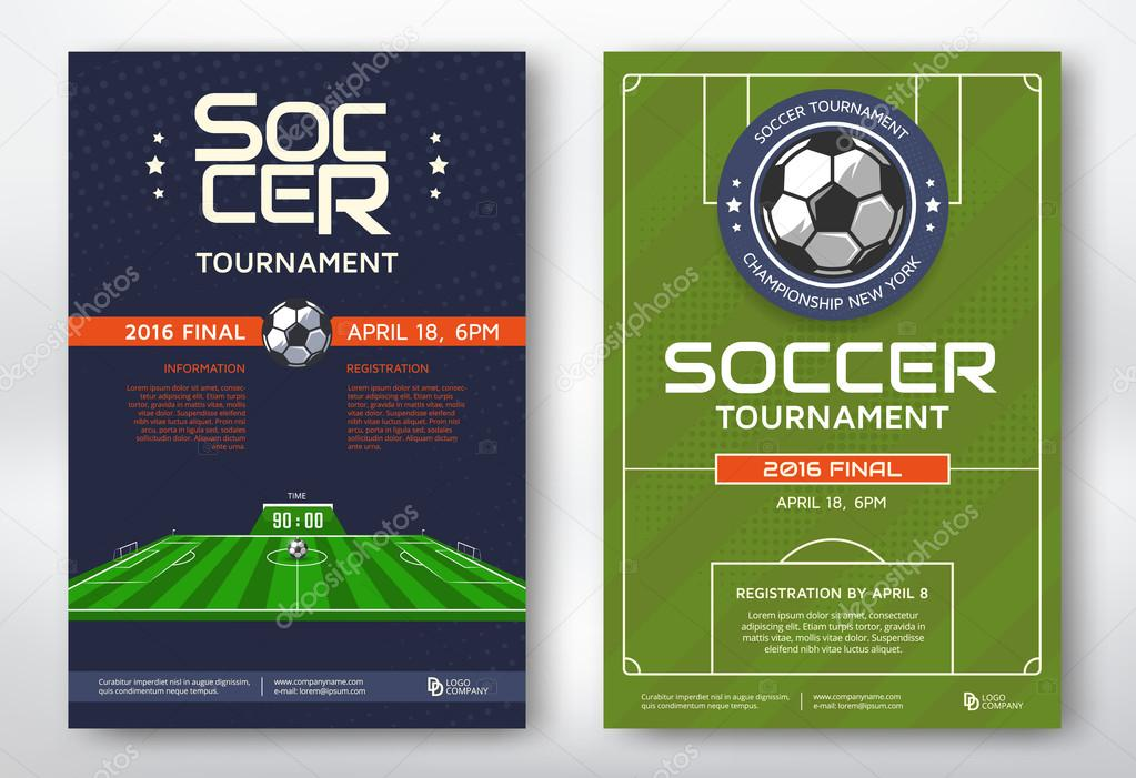 Soccer Tournament Posters Stock Vector