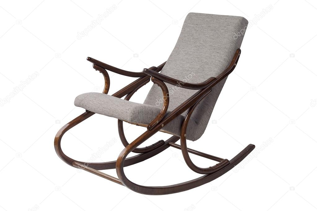 Dark Brown Rocking Chair On A White Background U2014 Photo By OlesyaKuzina