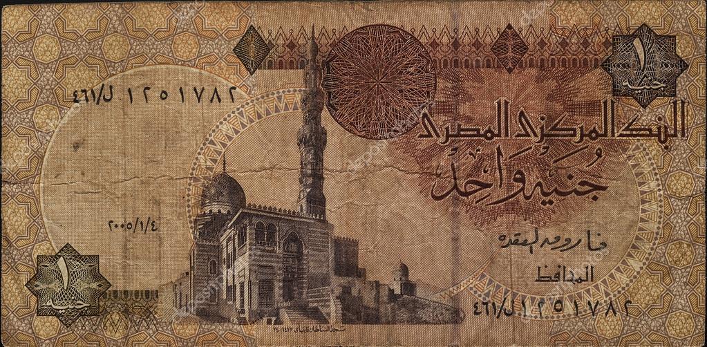 Un Des Billets Livre Egyptienne Photographie Olesyakuzina