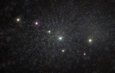 Big Dipper Constellation 3D Illustration