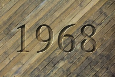 Engraved Historical Year 1968