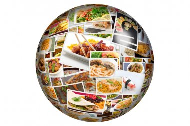 World Cuisine Collage Globe
