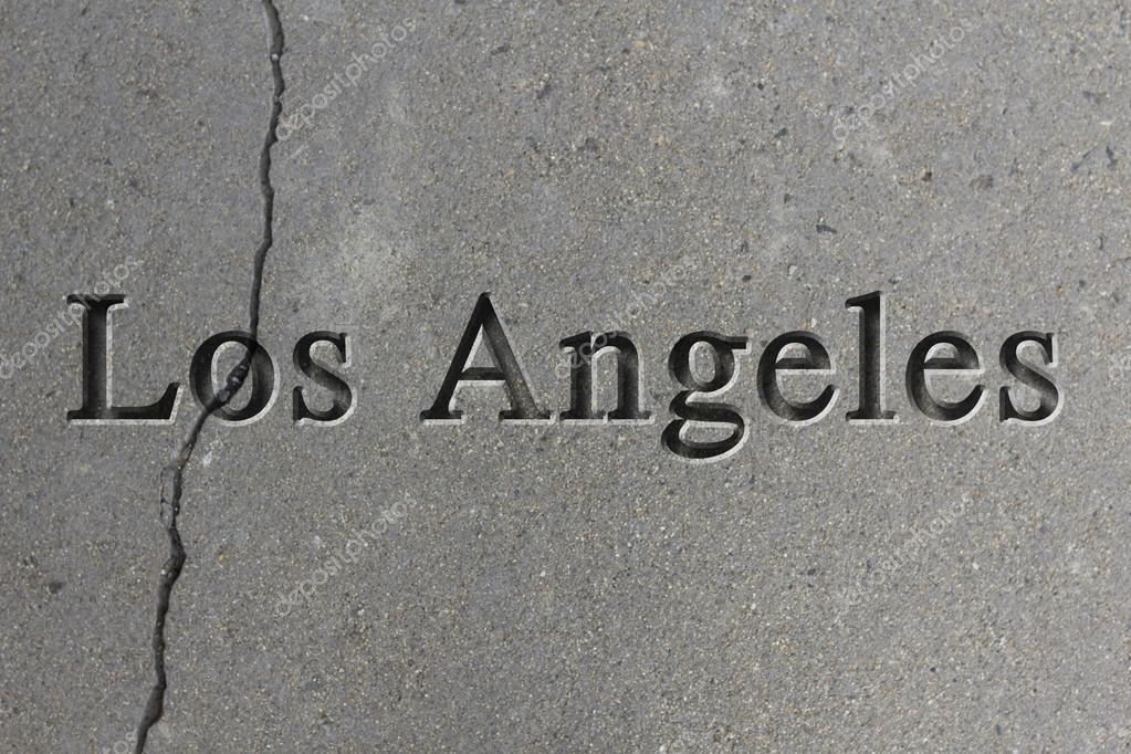 Grabado de la ciudad Los Angeles — Foto de stock © ezumeimages #81906926