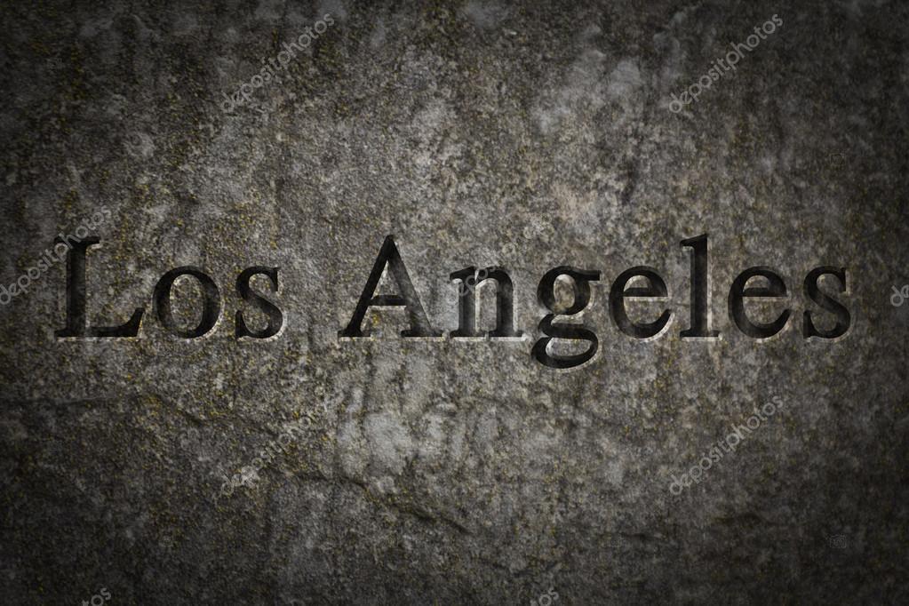 Grabado de la ciudad Los Angeles — Foto de stock © ezumeimages #81906986