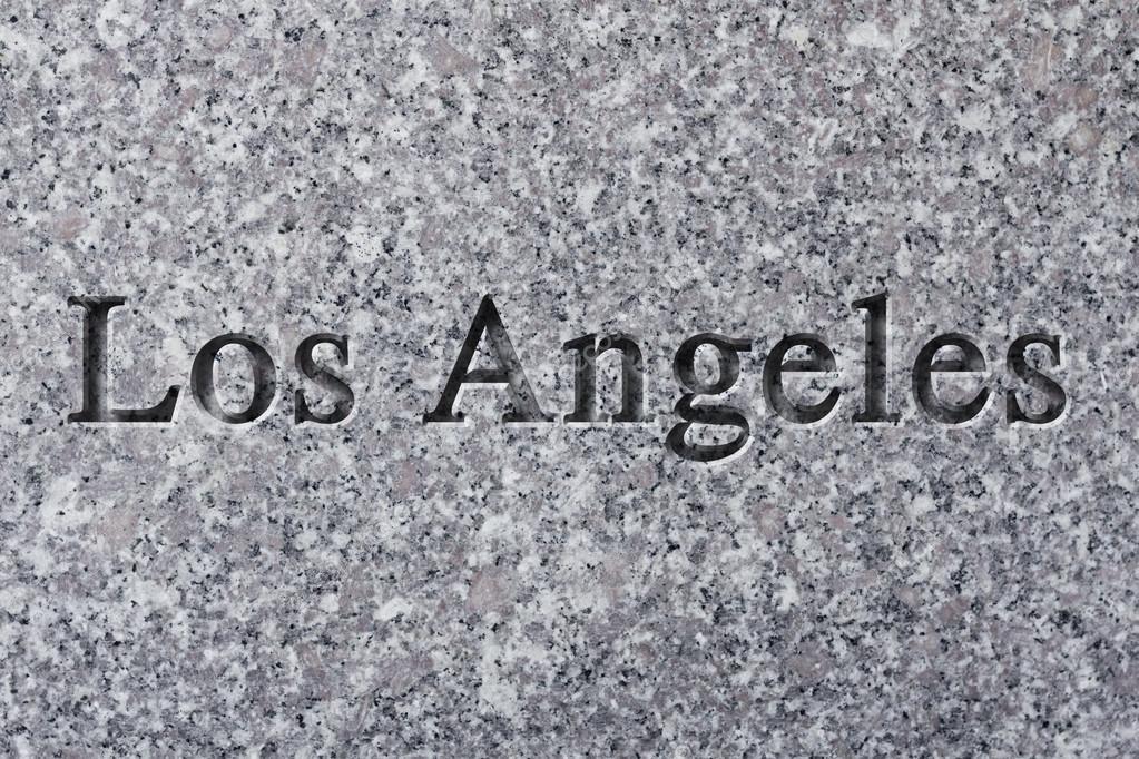 Grabado de la ciudad Los Angeles — Foto de stock © ezumeimages #81907256