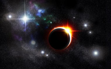 Eclipse Universe Starscape Background