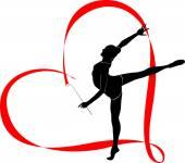 Gymnastka dívka v srdci