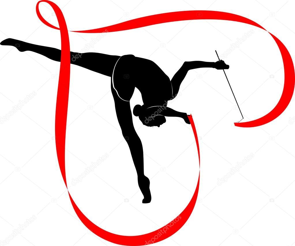 vault gymnastics silhouette. Black Silhouette Gymnastics Logo On White Background \u2014 Vector By Weter777 Vault