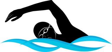 Swimmer athlete silhouette
