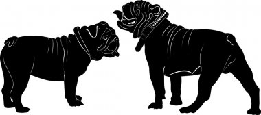 bulldogs animals silhouettes