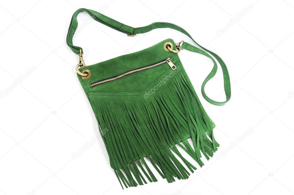 8800e236ff3e Зеленая сумка женская замша с бахрамой. Фото: замшевые женские сумки — Фото  автора ...
