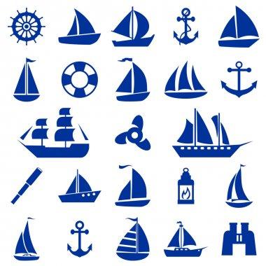 Sailboat symbol set.