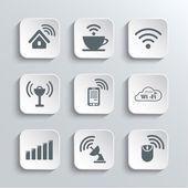 Wireless- und Wi-Fi-Web-Icons-Set