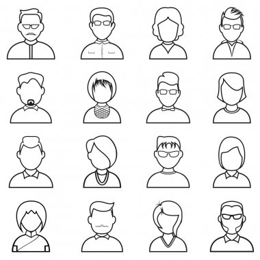 Line people icon.