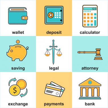 Financial Items And Money Symbol