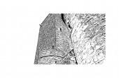 Das Gebäude mit dem Wahrzeichen von Bochum ist eine Stadt in Westdeutschland. Handgezeichnete Skizzenillustration im Vektor.