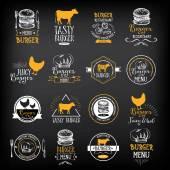 Fotografie Burger menu restaurant badges