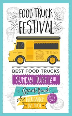 Food truck party invitation.