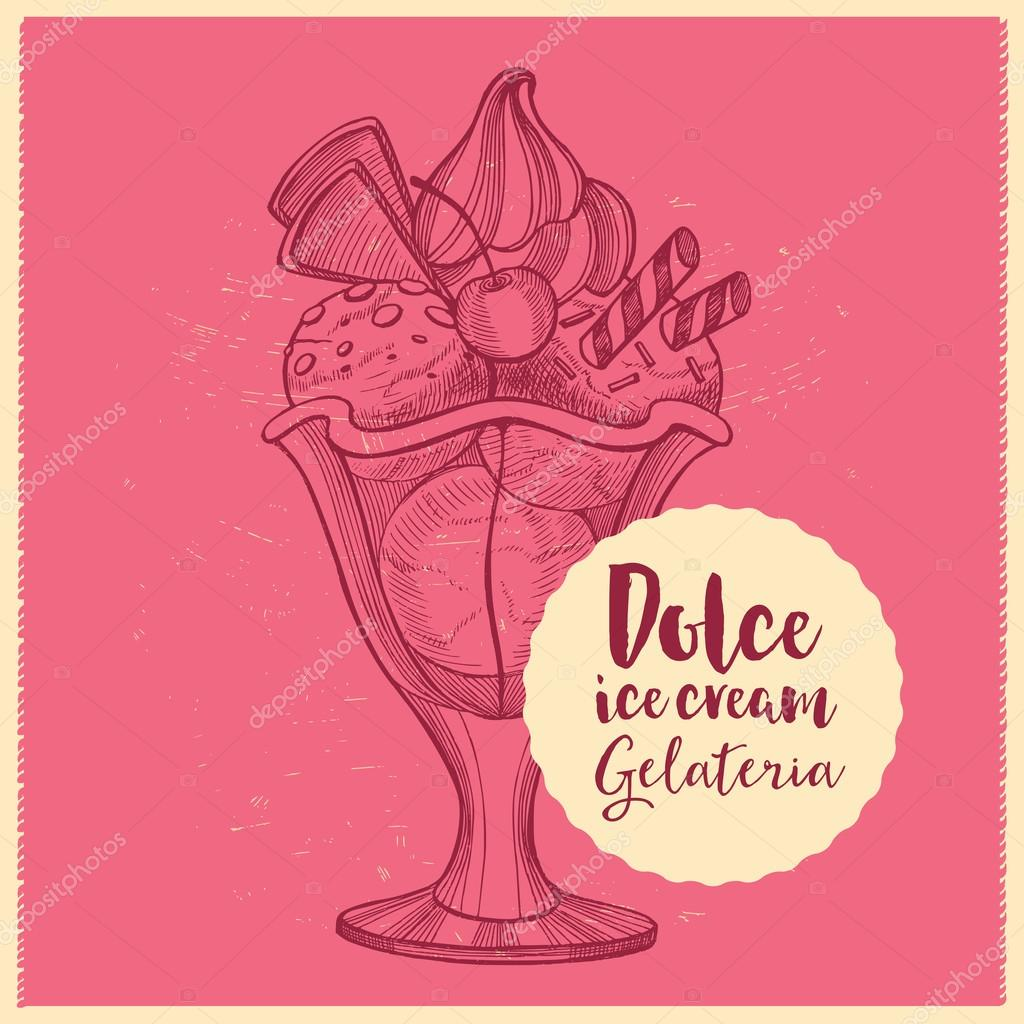 Menú de helados, folleto restaurante — Vector de stock © Marchi ...