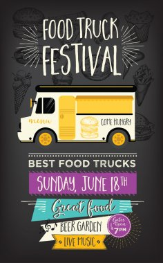 Food truck party invitation