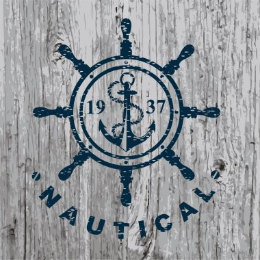 Nautical marine badge