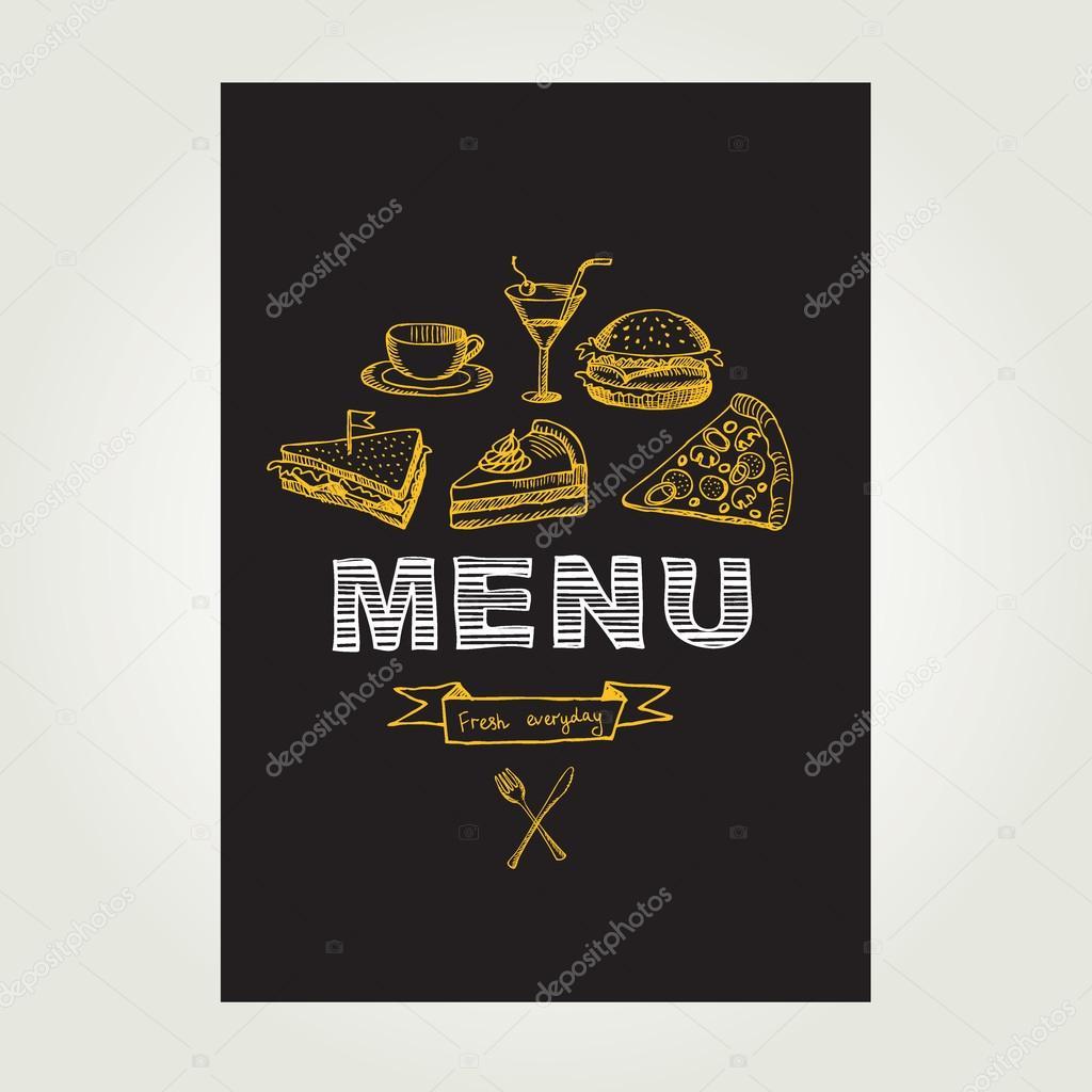 Restaurante cafetería menú, diseño de plantillas — Archivo Imágenes ...