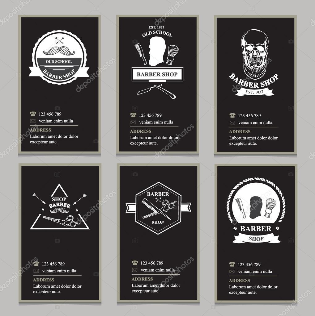 Cartes De Visite Design Salon Coiffure Vecteur Par