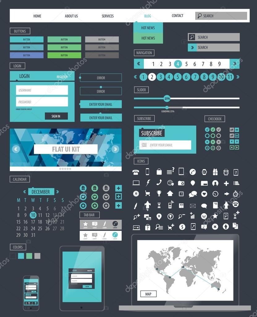 Ui kit responsive web design