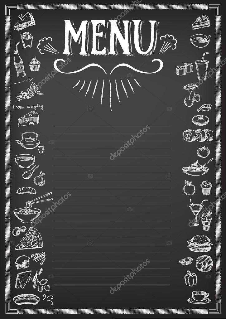 Menú de alimentos, diseño de la plantilla de restaurante — Archivo ...