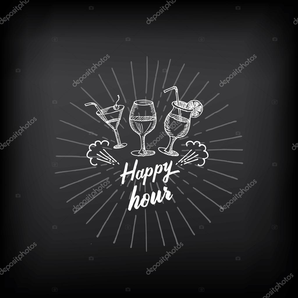 Happy hour party invitation Stock Vector Marchi 70296791