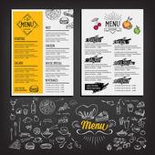 Fotografie Restaurant cafe menu, template design