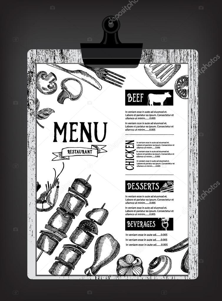 Cafe Menü Restaurant Broschüre — Stockvektor © Marchi #75508425