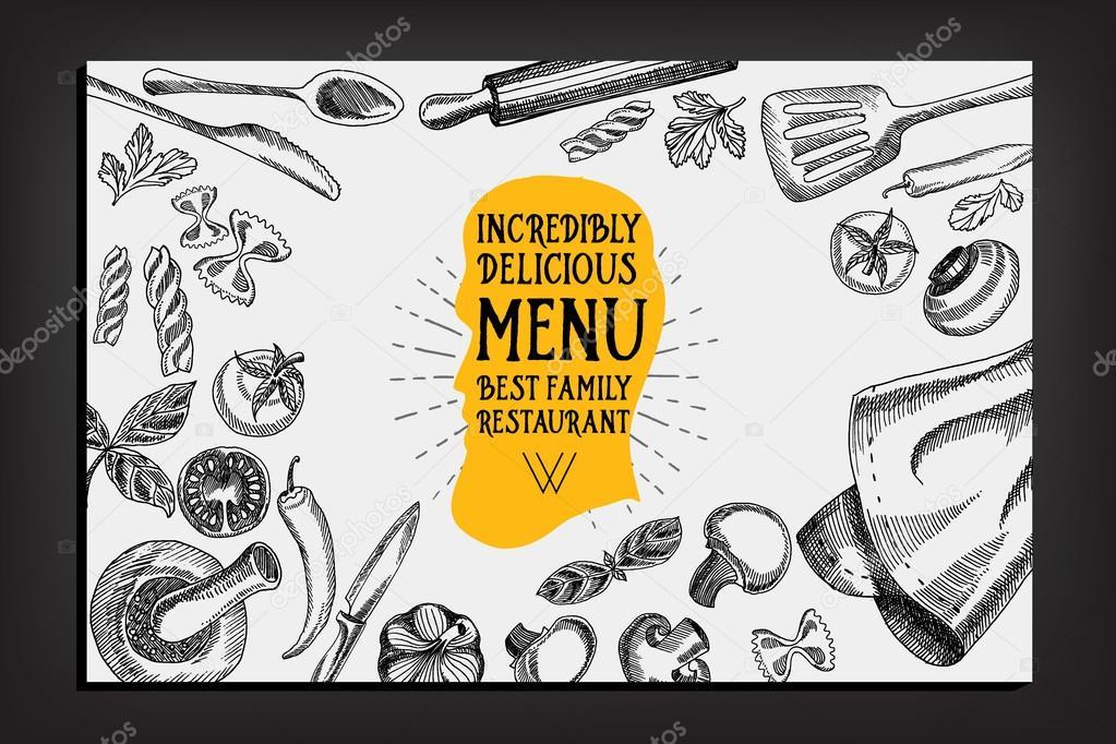 Cafe Menü Restaurant Broschüre — Stockvektor © Marchi #75508525