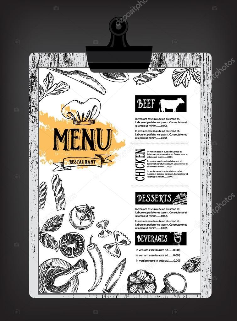 Cafe Menü Restaurant Broschüre — Stockvektor © Marchi #75508537