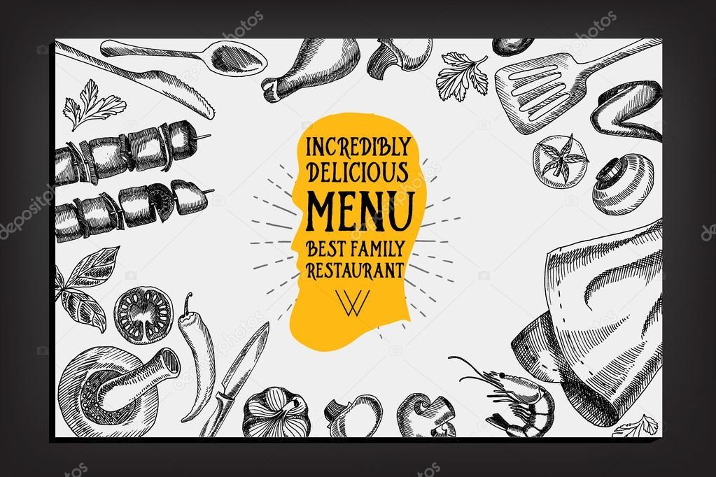 Cafe Menü Restaurant Broschüre — Stockvektor © Marchi #75508545