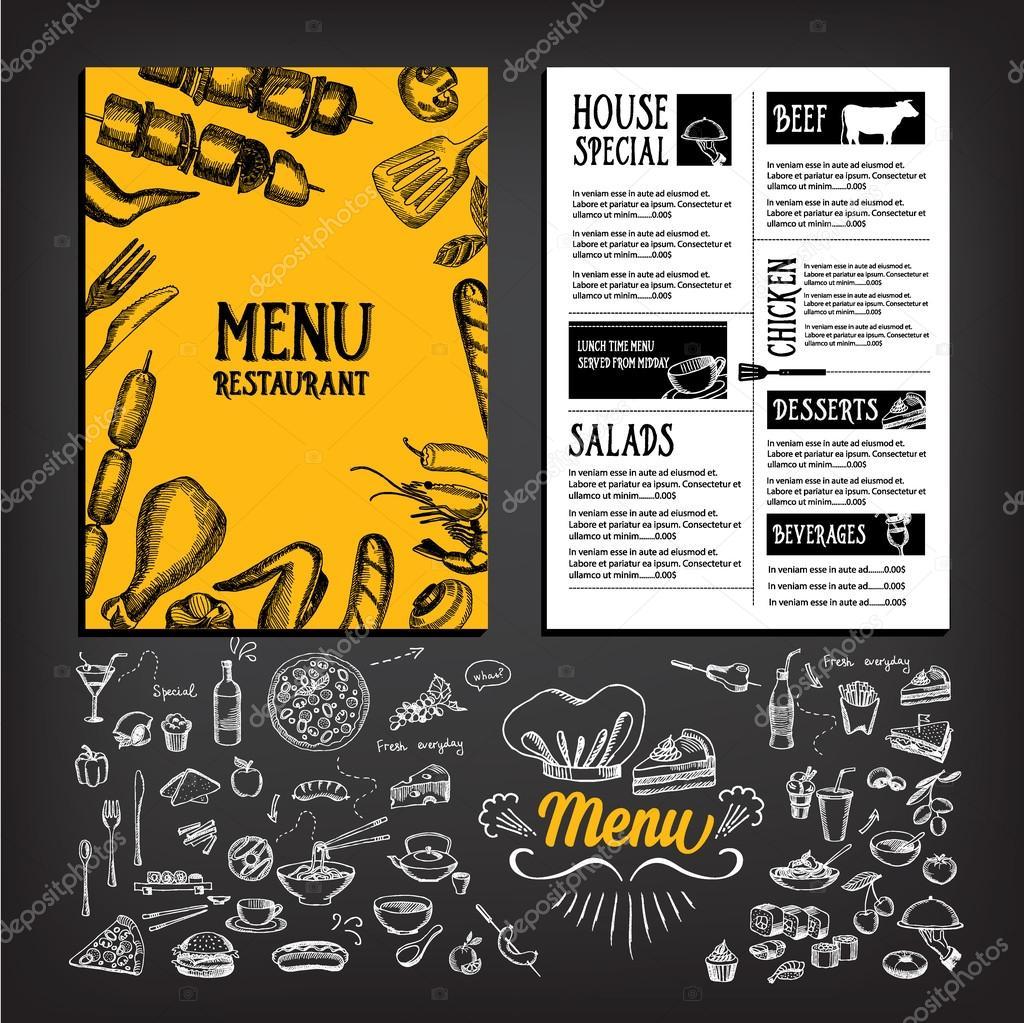 Cafe Menü Restaurant Broschüre — Stockvektor © Marchi #75508569