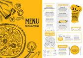 Fotografie Pizza restaurant menu