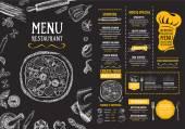 Fotografie Restaurant menu template design