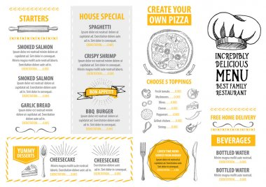 Italian restaurant menu template design