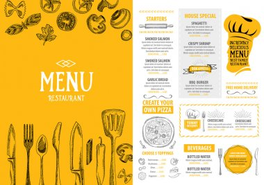 Italian restaurant menu template design