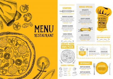 Pizza restaurant menu