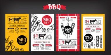 BBQ template menu brochures