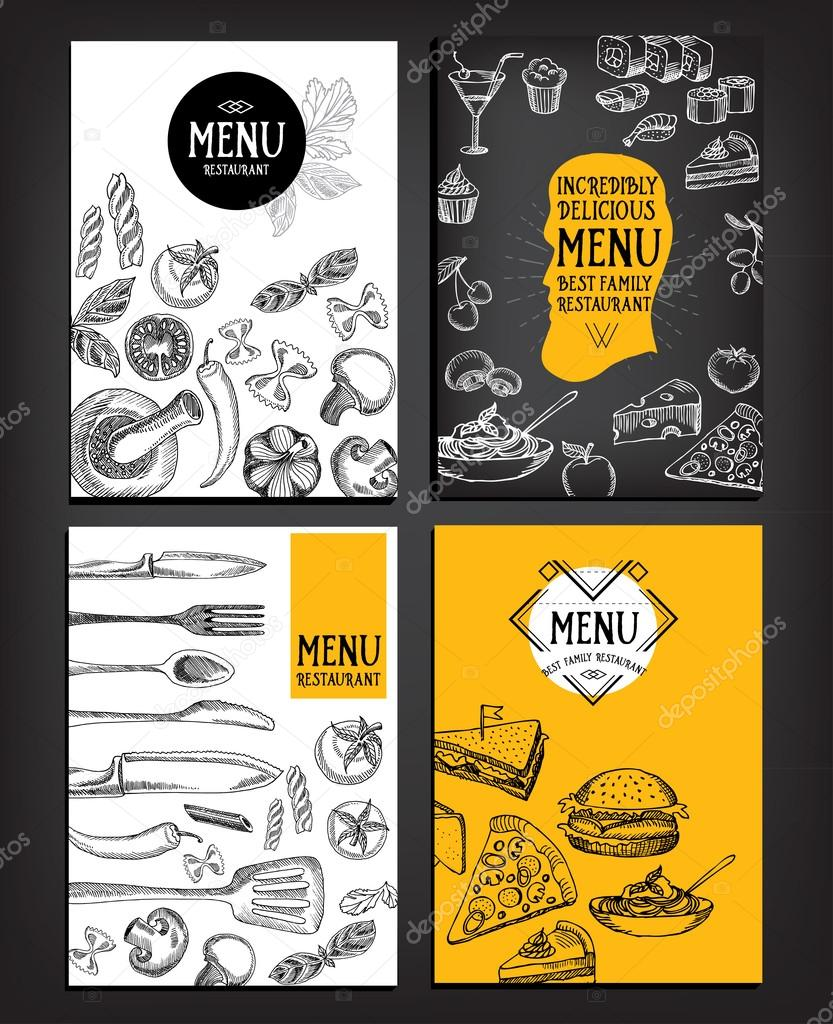 Restaurant-Menü-Vorlagen-design — Stockvektor © Marchi #78124110