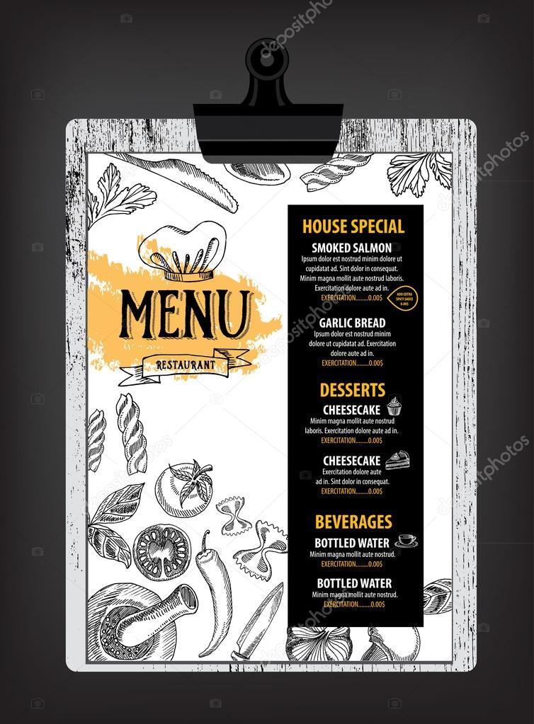 Diseño de plantillas de menú de restaurante italiano — Vector de ...