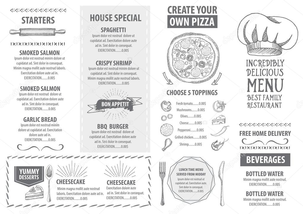Italsk restaurace menu ablony design stock vektor marchi 78124354 - Stock cuisine saint priest ...