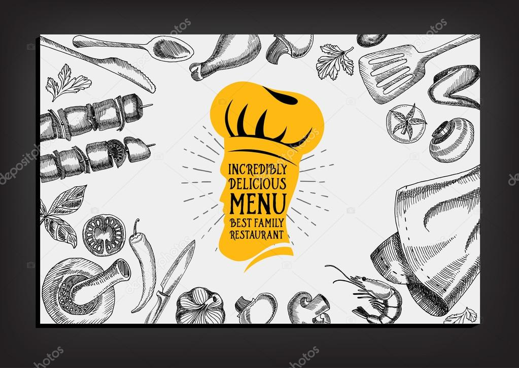 pizza restaurant menu template design stock vector marchi 78124818