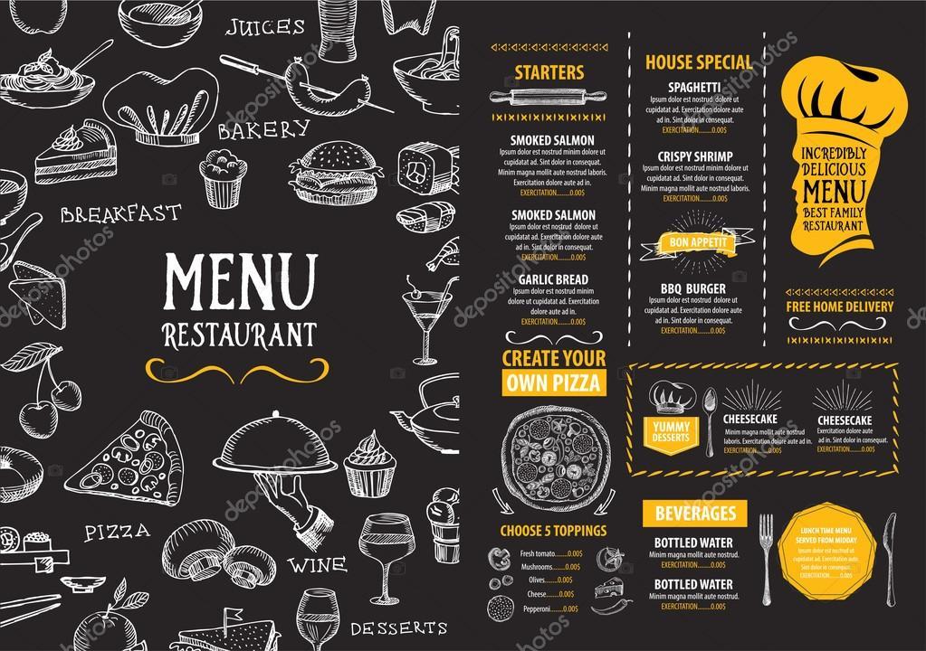 Restaurant menu template design
