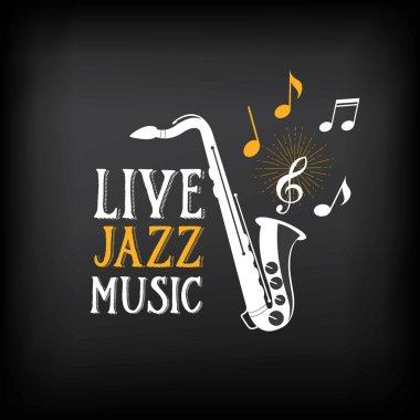 Jazz music party logo