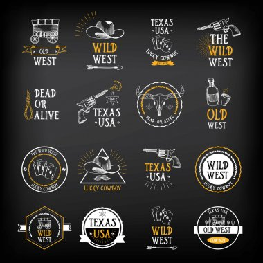 Wild west badges design